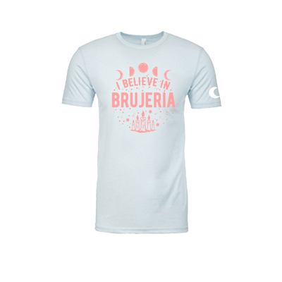I Believe in Brujería Pastel Aqua and Pink T-Shirt