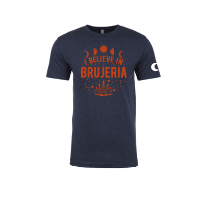 I Believe in Brujería Navy Blue and Red T-Shirt