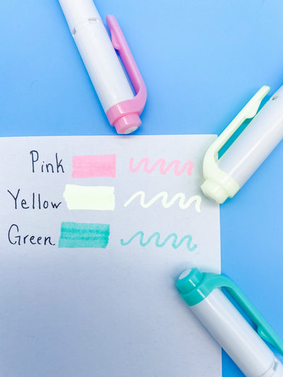 Zebra Mildliner Double-Sided Highlighter Pens Pastel Neon 3 Color Set