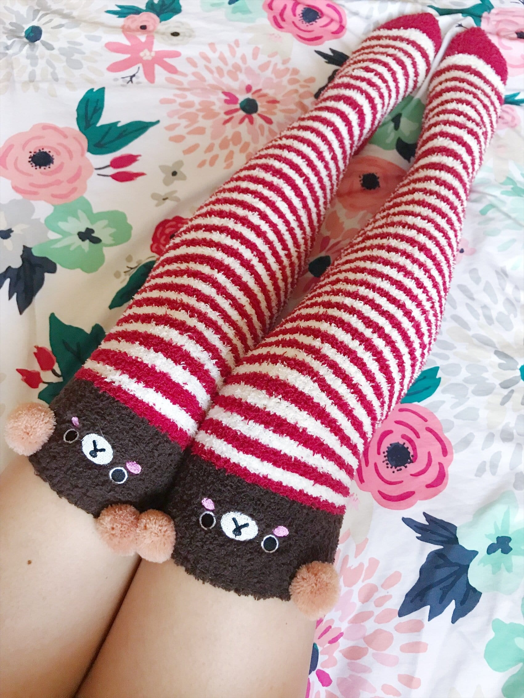 Fuzzy Over the Knee Socks