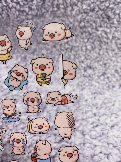 Kawaii Pig Sticker Sheet