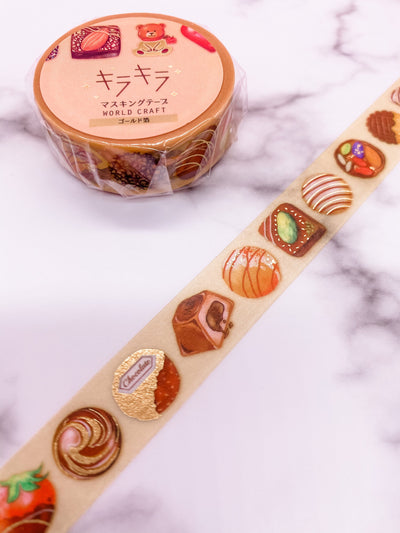 Chocolates Gold Foil Washi Tape