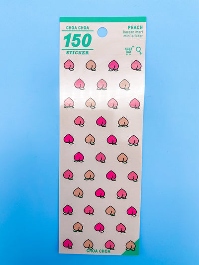 Tiny Peach Choa Choa Sticker Sheet