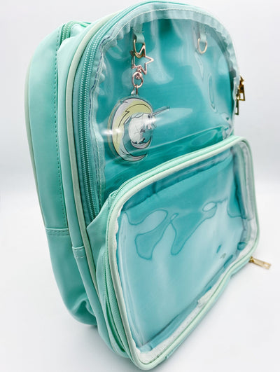 Mint Green Ita Bag Double Panel Backpack with Free Keychain