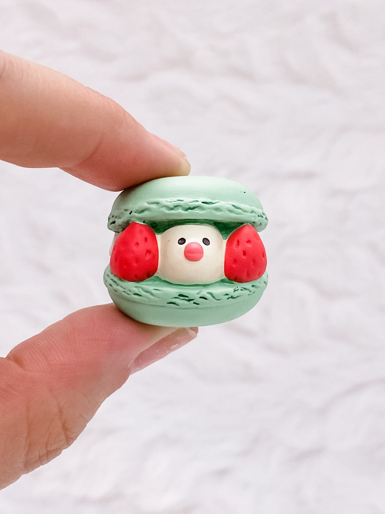Green Java Sparrow Macaron: Very Mattary Strawberry by Decole