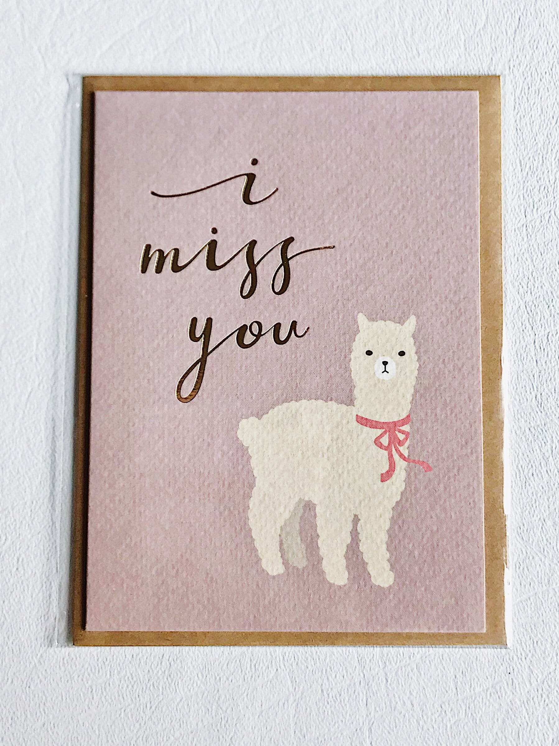 Thinking of You Card I Miss You Alpaca