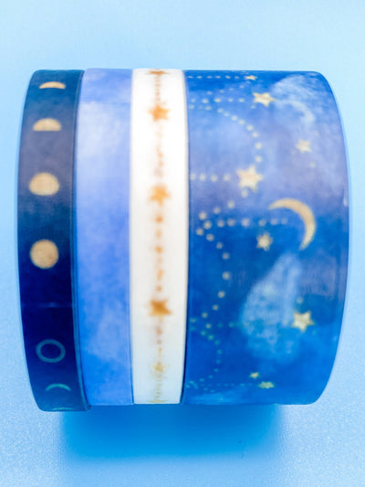 Starry Night Sky Washi Tape Set of 4