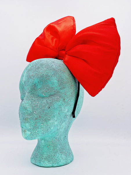 Big Bow Headband- Red