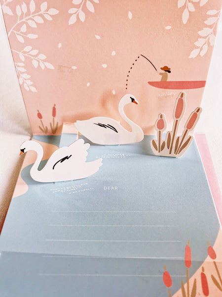 Pop Up Card Together Forever Swans