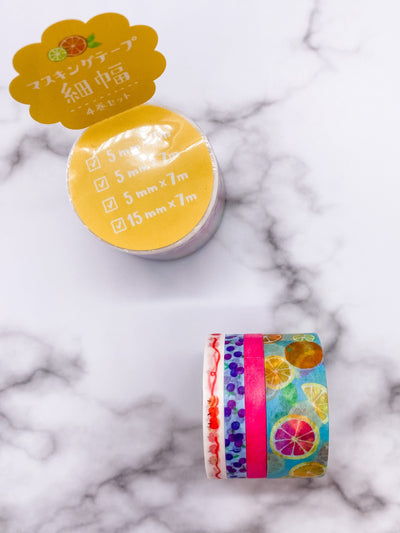 Fresh Fruit Washi Tape Set of 4