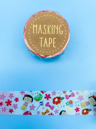 Kokeshi Large Washi Tape