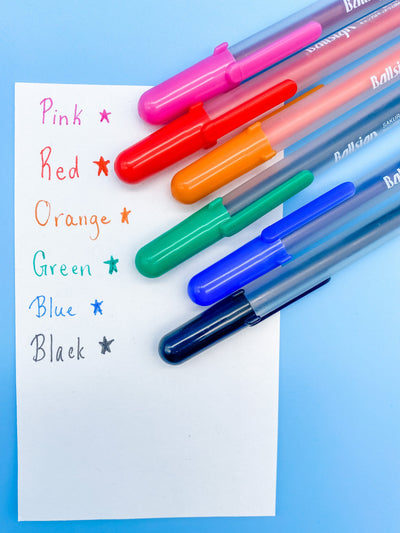 Classic Color Gel Pen 6 Color Set Ballsign by Sakura