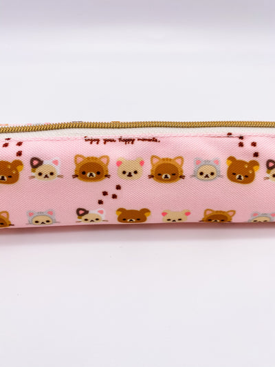 Rilakkuma Skinny Pencil Pouch Cats