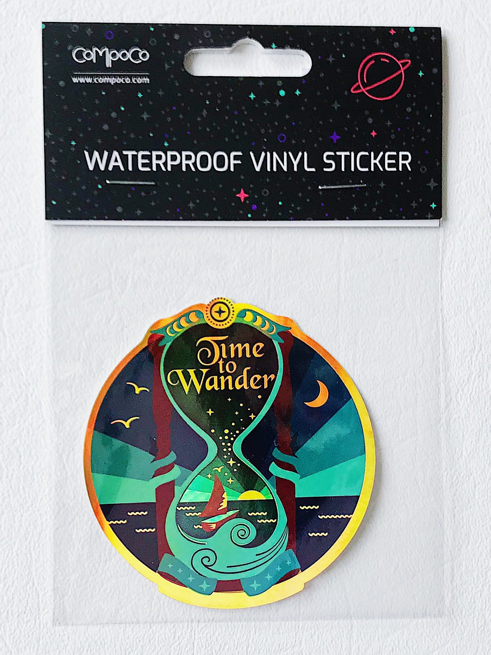 Time to Wander Holographic Vinyl Sticker