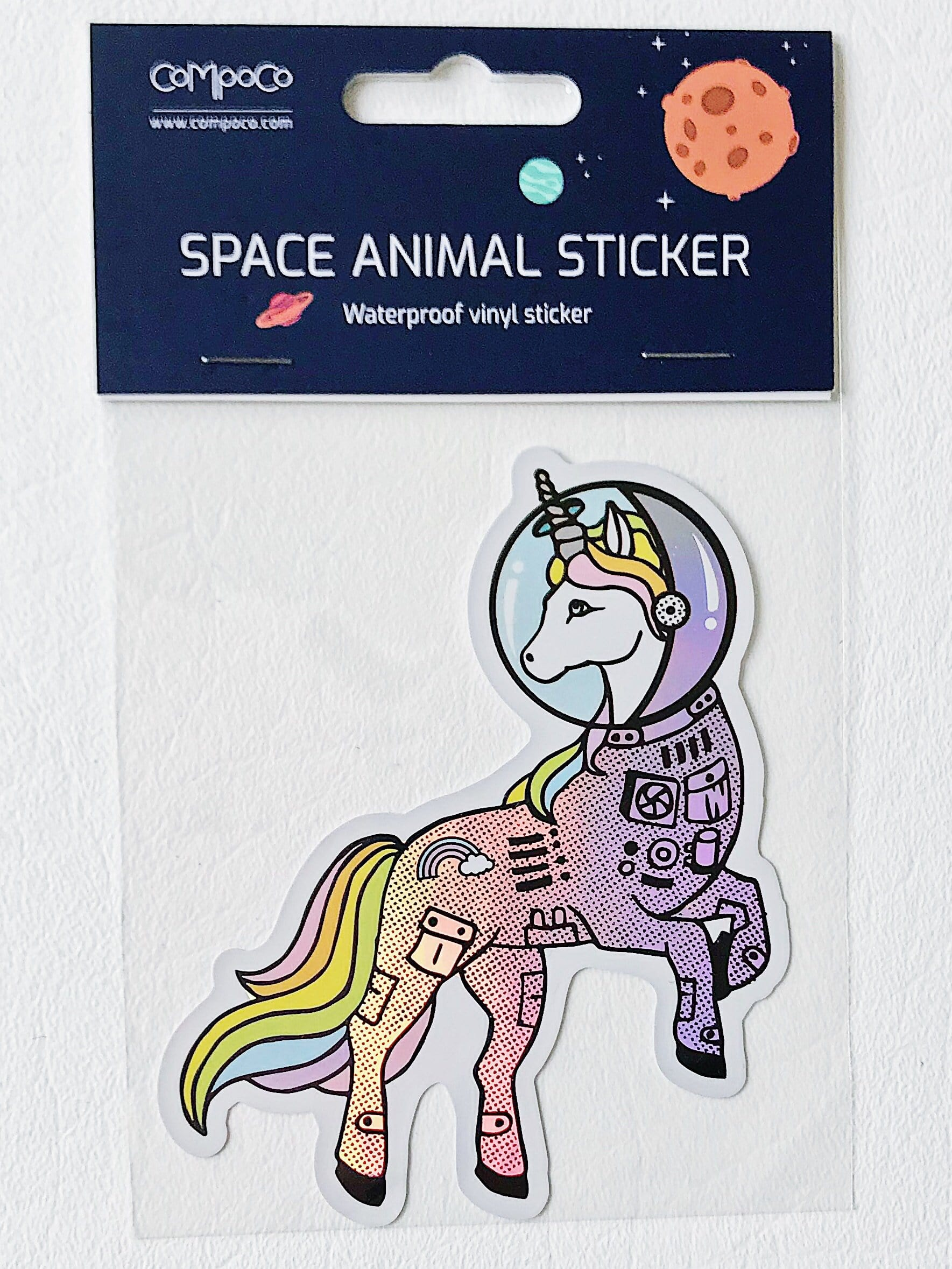 Space Unicorn Holographic Vinyl Sticker