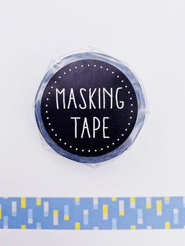 Rectangles on Blue Washi Tape (AA00103)