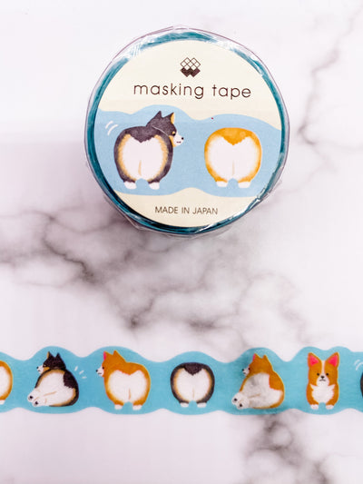Corgi Tails Die Cut Washi Tape