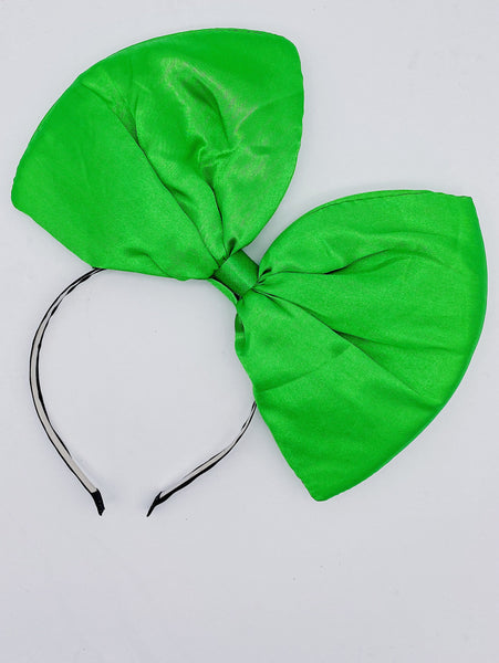Big Bow Headband- Green