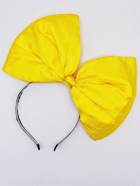 Big Bow Headband- Yellow