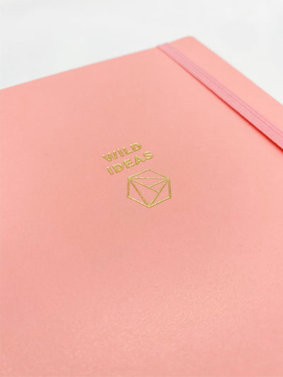 Wild Ideas Pink Spiralbound Journal