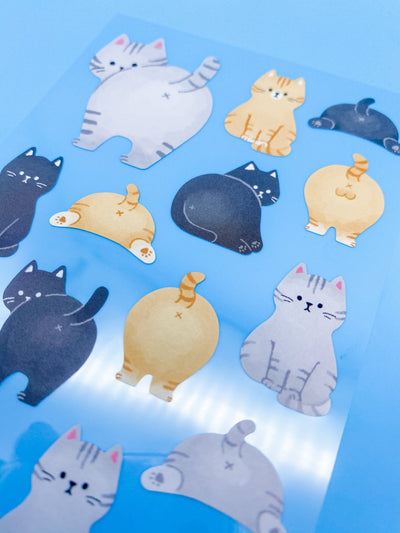 Cat Tail Stickers