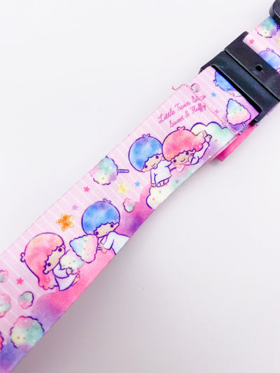 Little Twin Stars Cotton Candy Pink Lanyard