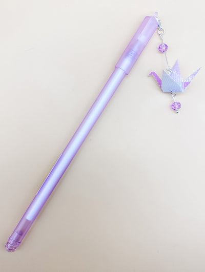 Origami Crane Dangle Gel Pens