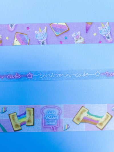 Unicorn Cafe Washi Tape Set of 3