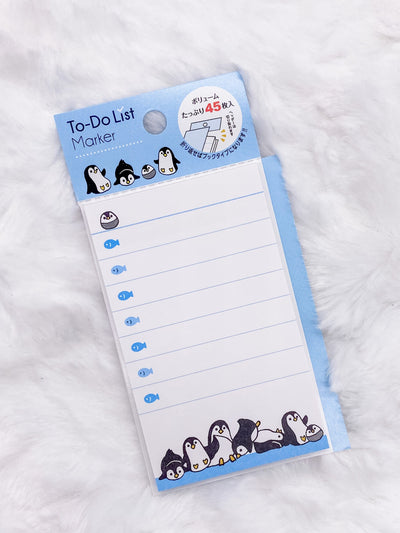 Penguin Checklist Sticky Notes