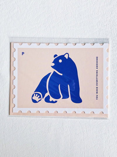 Stamp Style Card You Make Everything Awesome Bear