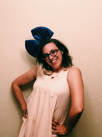 Big Bow Headband- Blue
