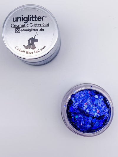 Cobalt Blue Face, Hair, and Body Glitter