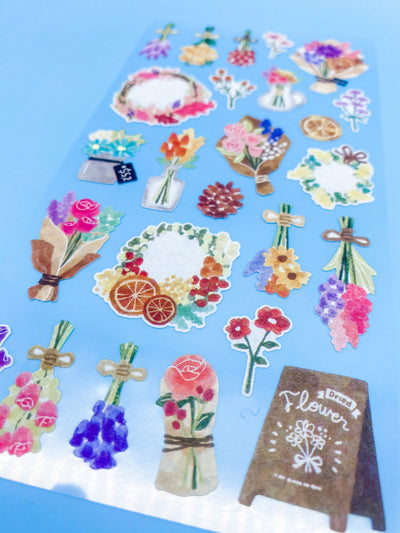 Watercolor Flower Bouquets Sticker Sheet