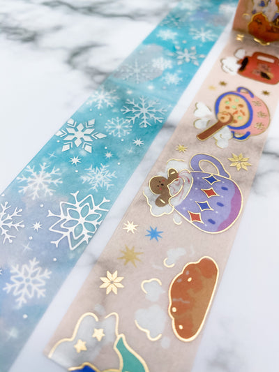 Limited Edition Winter Washi Tape and Stickers Set