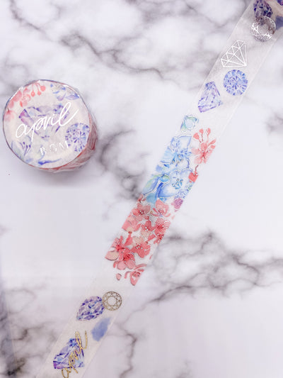 April Birthstone Washi Tape