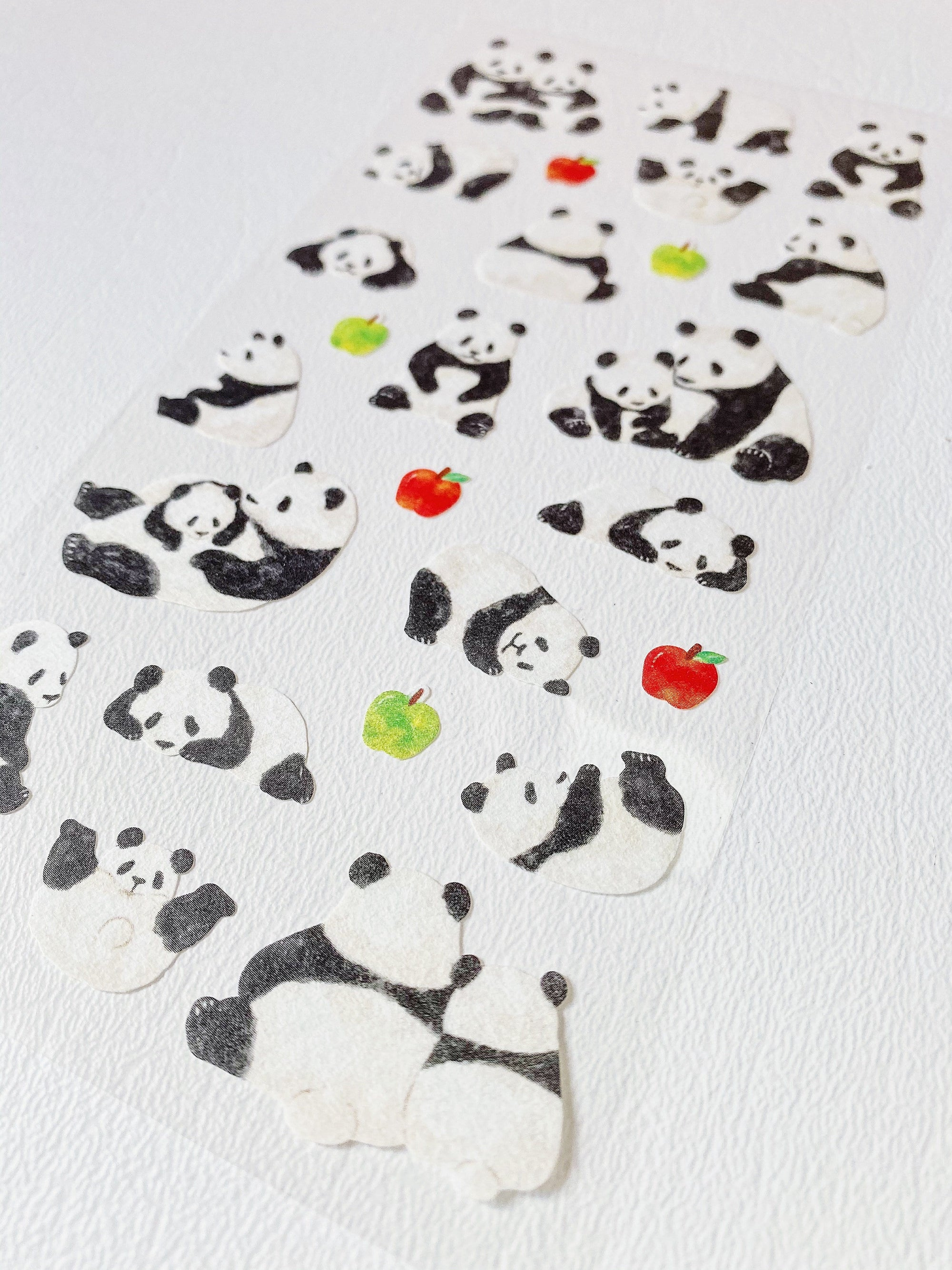 Watercolor Pandas Sticker Sheet