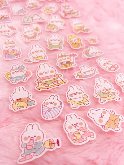 Muu-Chan Bunny Rabbit Baby Sticker Sheet