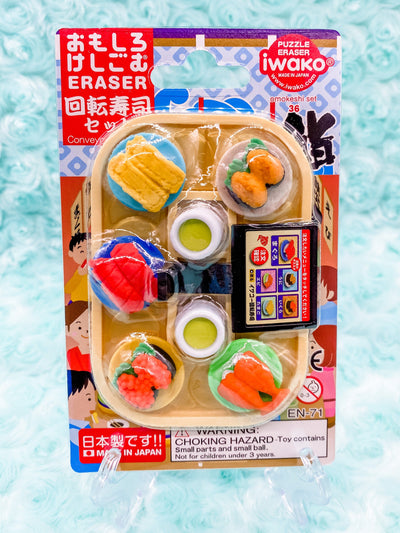Conveyor Belt Sushi Eraser Set
