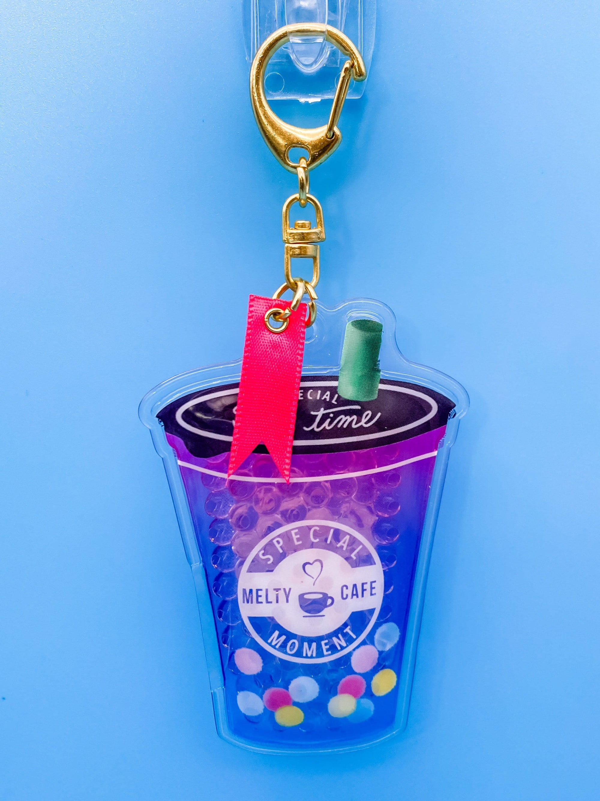 Rainbow Boba Tea Jelly Keychain