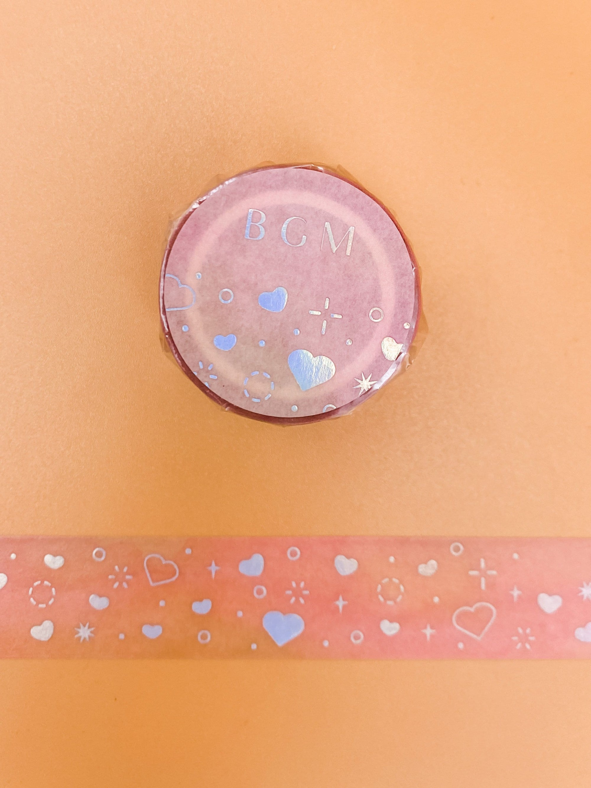 Sparkly Hearts Watercolor Washi Tape