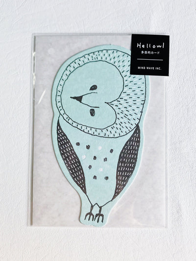 All Occasion Card Hellowl Blue Owl