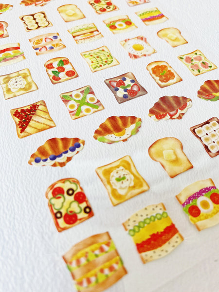 Foodies Sandwich Toast Sticker Sheet