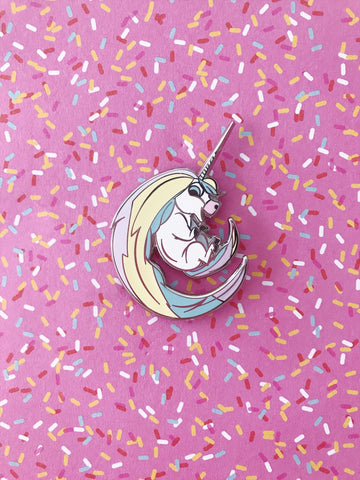 Colorful Cute Unicorn Mascot Enamel Pin