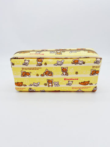 Pencil Pouch- Yellow Rilakkuma Cat