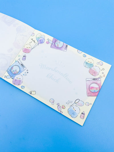 Marshmallow Chick Laundromat Party Memo Pad