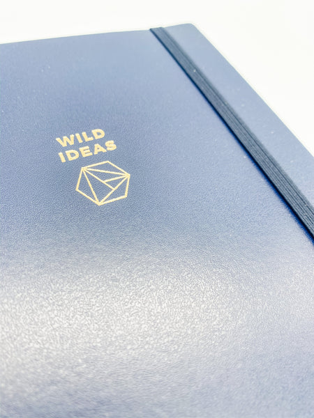 Wild Ideas Navy Blue Spiralbound Journal