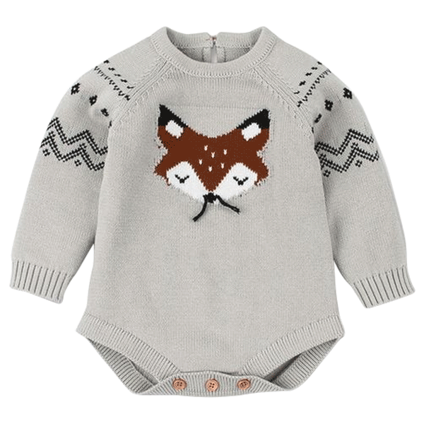 Fox Knitted Long Sleeve Bodysuit – My First Crush 4e8eb6da6