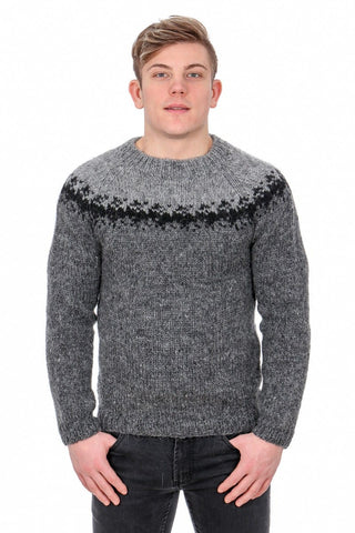 Viðar - Icelandic Sweater - Dark Grey, Icelandic Sweater Pullover - icelandicstore.is