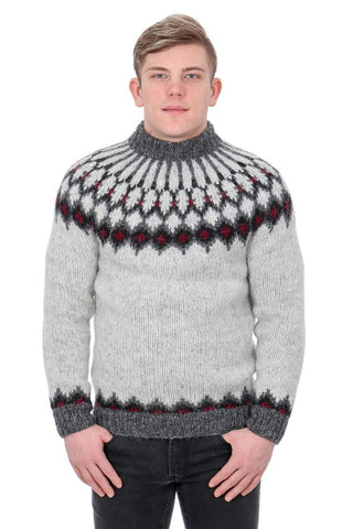 Jötunn - Icelandic Sweater - Ash Heather, Icelandic Sweater Pullover - icelandicstore.is