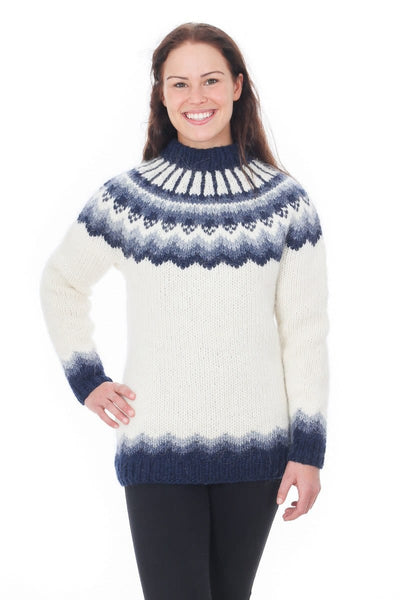 Freyja - Icelandic Sweater - White, Icelandic Sweater Pullover - icelandicstore.is